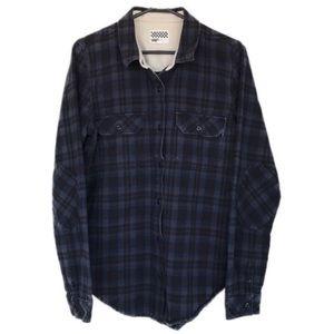Vans long sleeve button up flannel shirt
